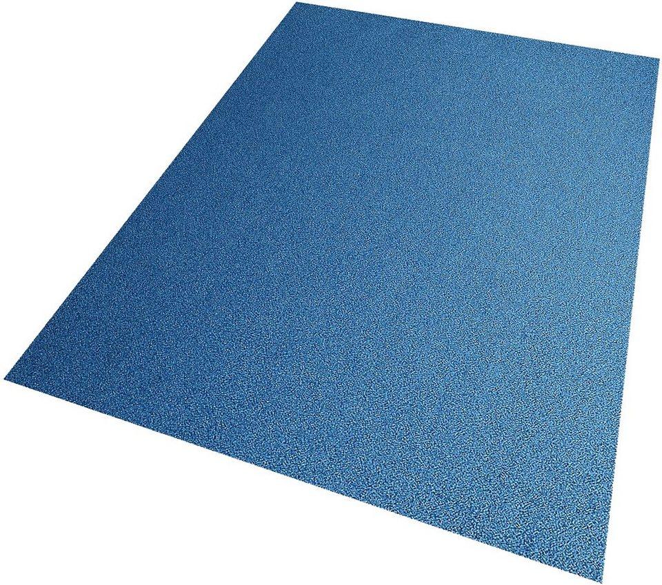 Teppich, Living Line, »Burbon«, Velour in blau
