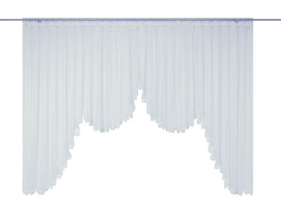 Gardine, Wirth, »Elena«, veredelt mit echter Plauener Spitze Stickerei (1 Stück) in weiß