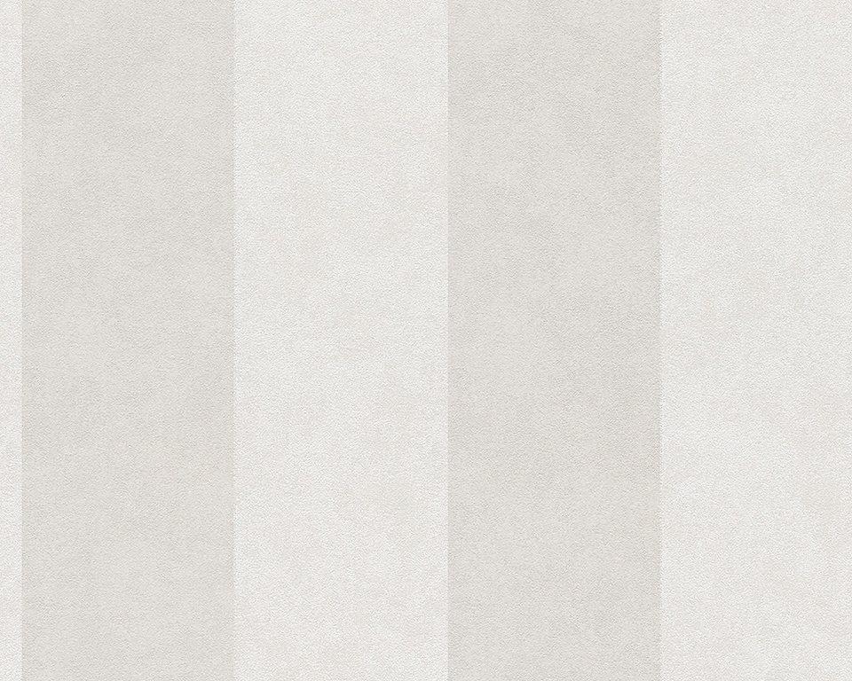 Vliestapete, Livingwalls, »Blockstreifen - Memory 2« in creme beige