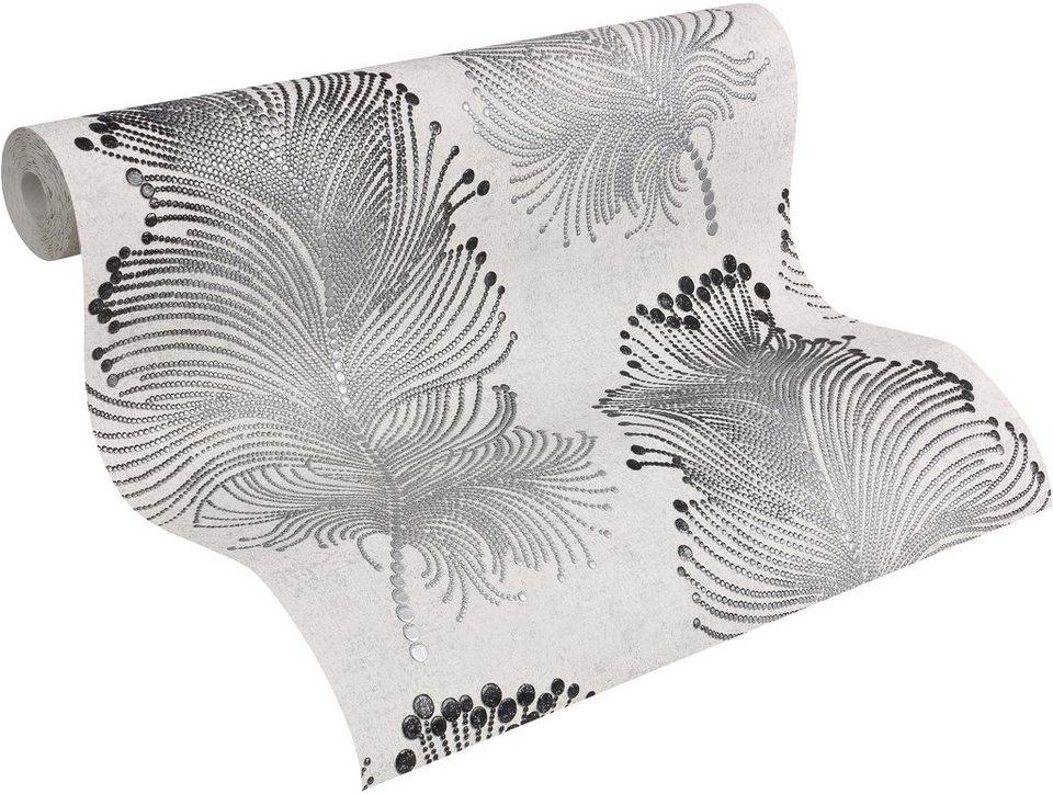 vliestapete livingwalls vintage federtapete bohemian. Black Bedroom Furniture Sets. Home Design Ideas