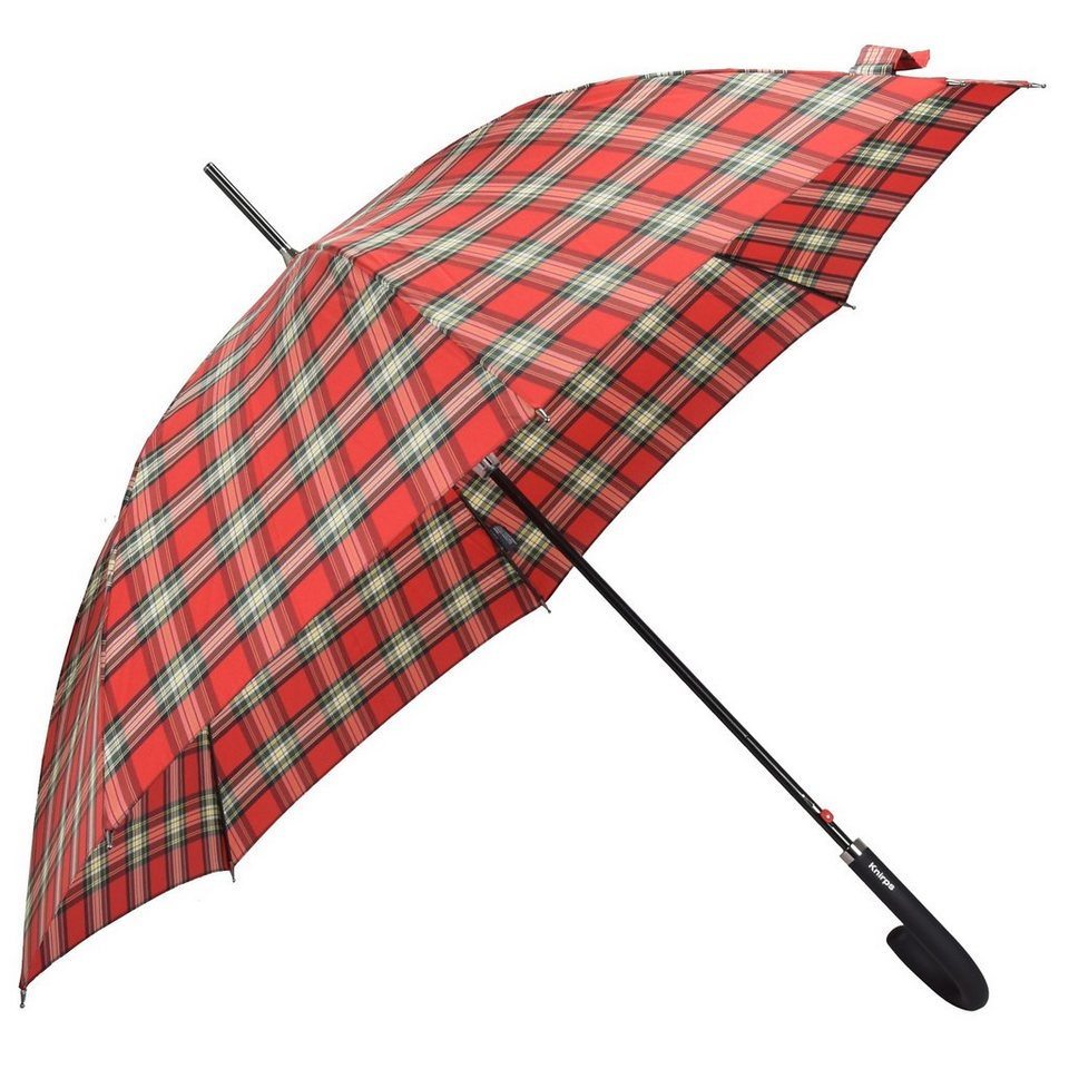 Knirps Automatic Stick Long Stockschirm 88 cm in check red