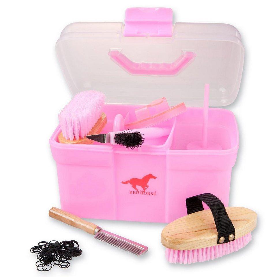 RED HORSE Pferde Putzbox in rosa