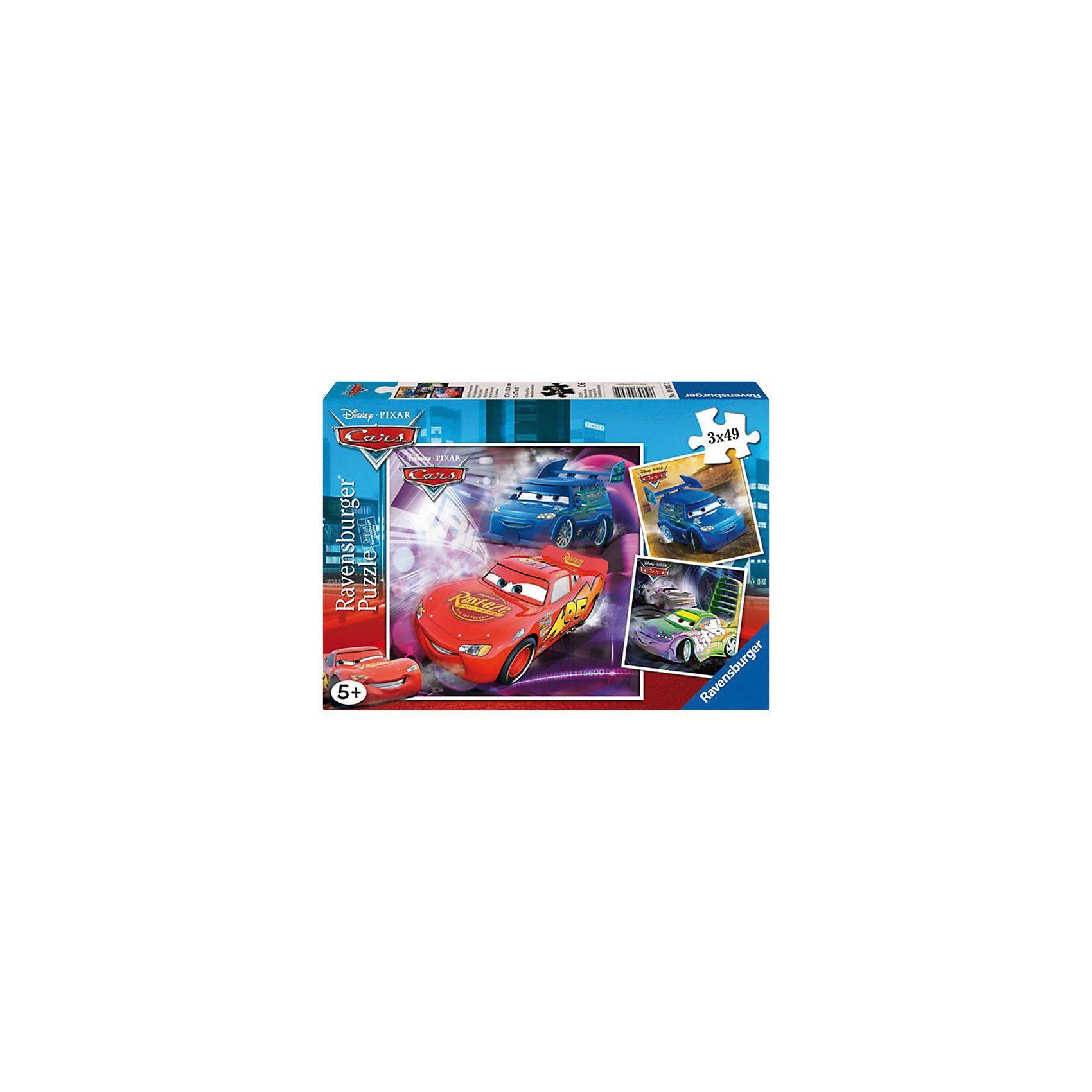 Ravensburger Disney Cars: Auf der Rennstrecke - 3x49 Teile Puzzle