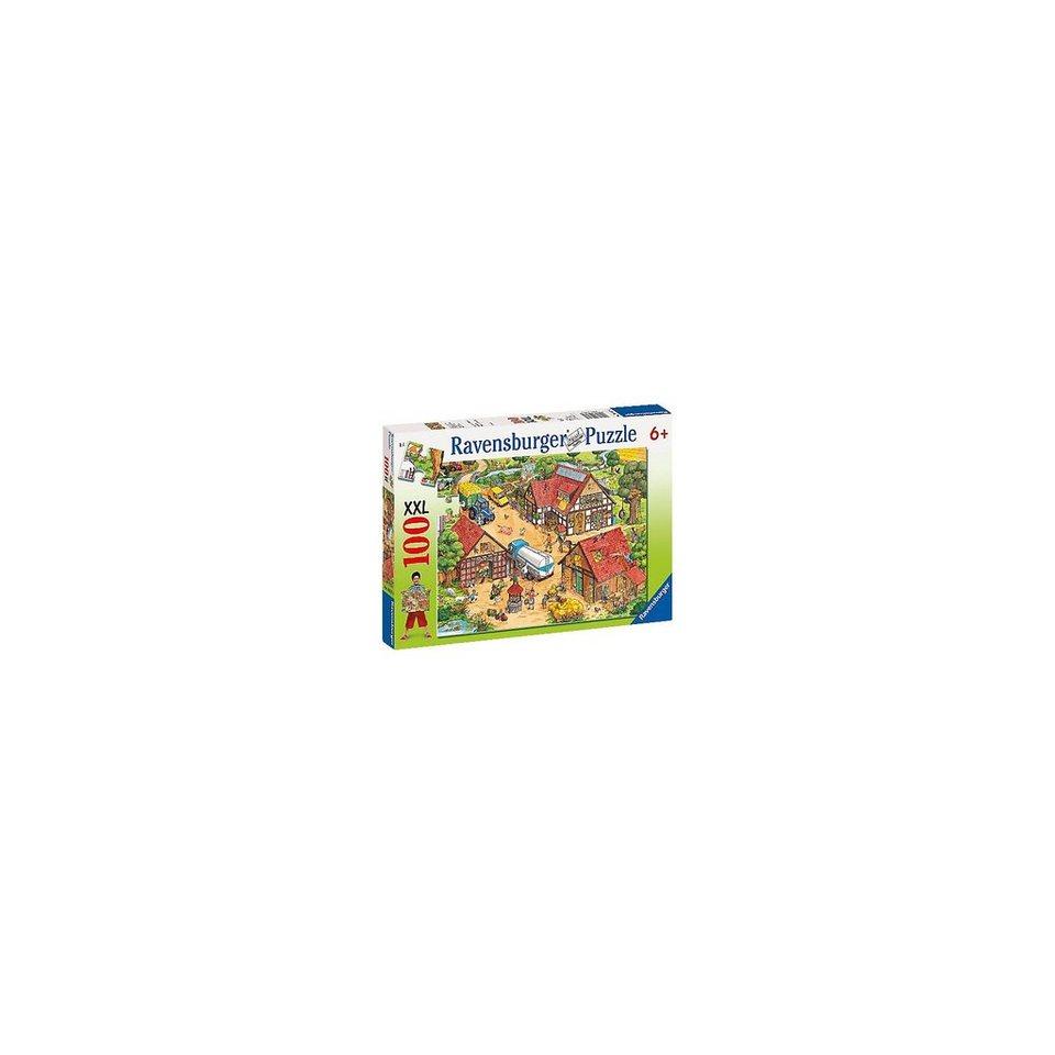Ravensburger Puzzle XXL 100 Teile Lustiger Bauernhof