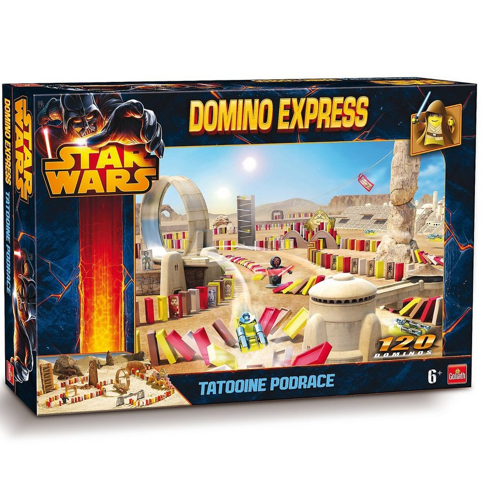 Goliath Domino Express Star Wars Set Tatooine Podrace