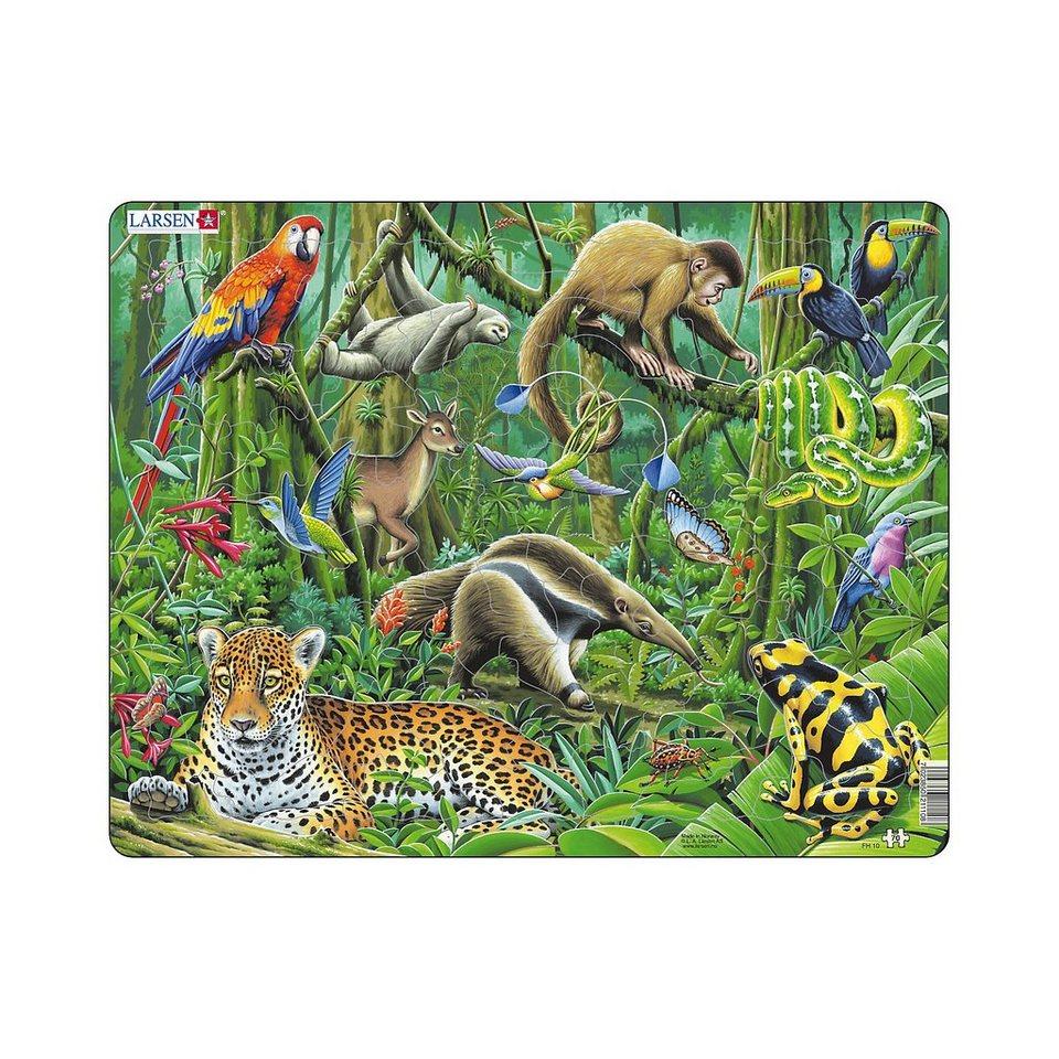 Larsen Rahmenpuzzle: Regenwald - 70 Teile