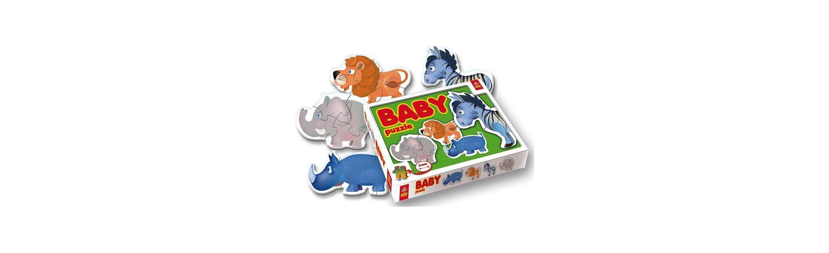Trefl Baby Puzzle-Set - 4 Puzzles mit 2-4 Teilen - Tiere Zoo