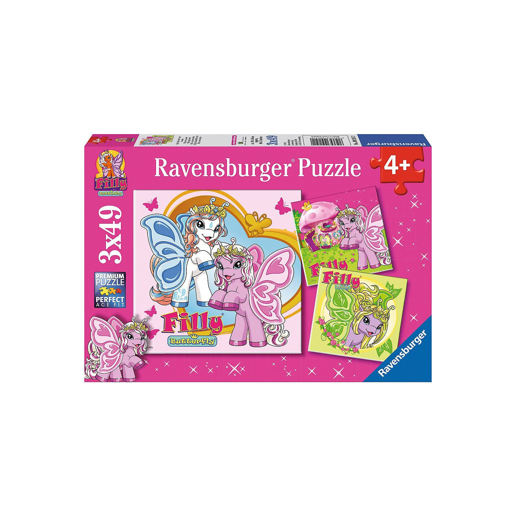 Ravensburger Puzzle Filly Schmetterlingsfreunde 3x49 Teile
