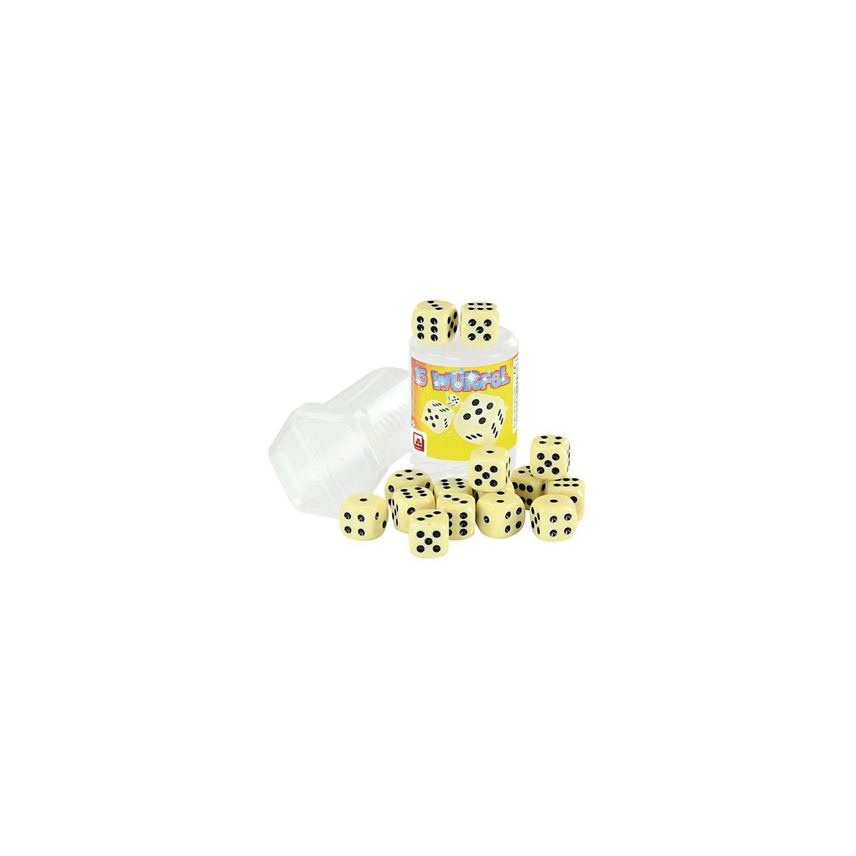 Nürnberger Spielkarten Würfel elfenbeinfarben - 15 Stück, 16mm
