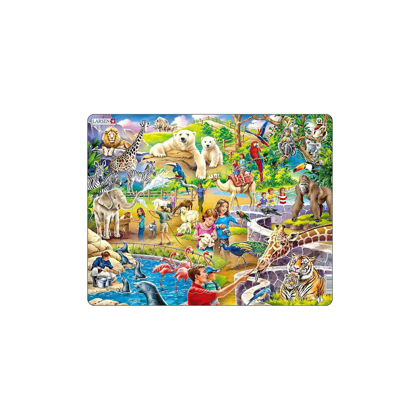 Larsen Rahmenpuzzle 48 Teile Zoo