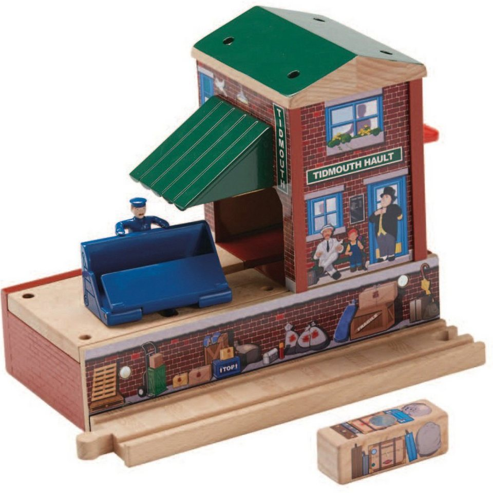 mattel thomas und seine freunde tidmouth station holz. Black Bedroom Furniture Sets. Home Design Ideas