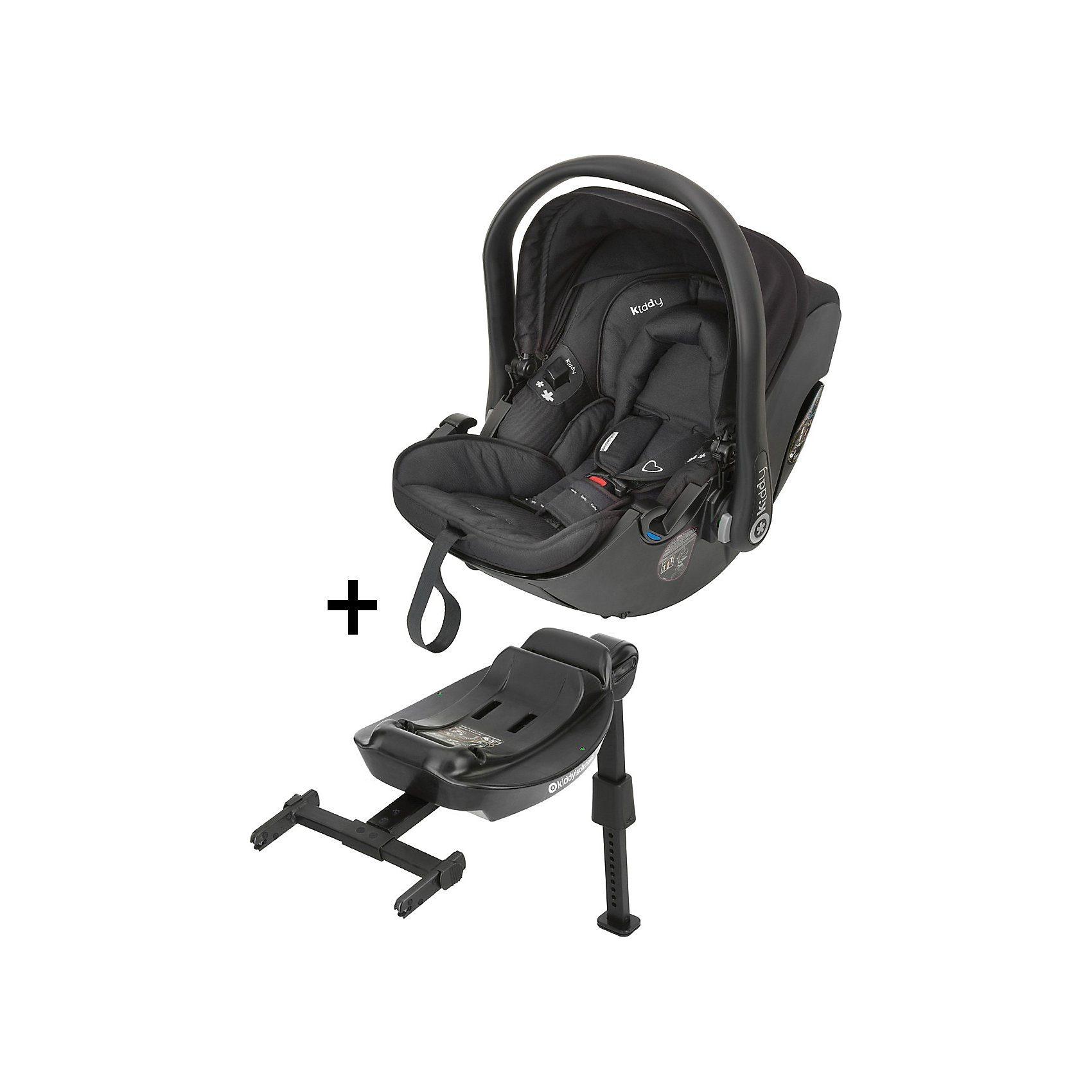 Kiddy Babyschale Evolution Pro 2 mit Isofix Base 2, racing black