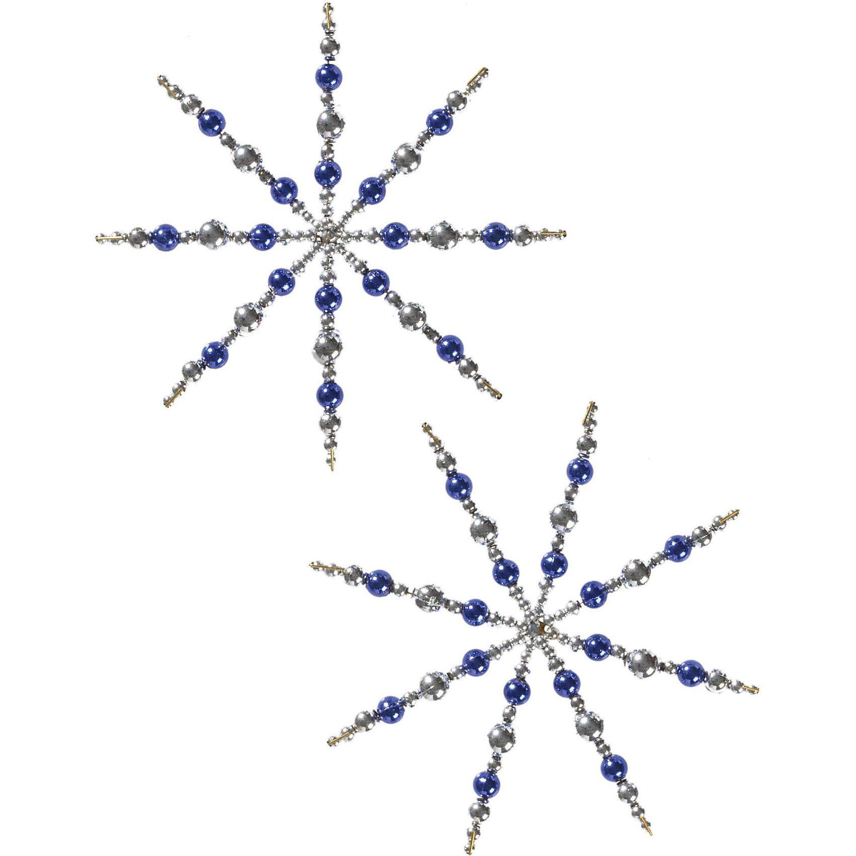 prohobb Kreativset Perlensterne Silber/Blau