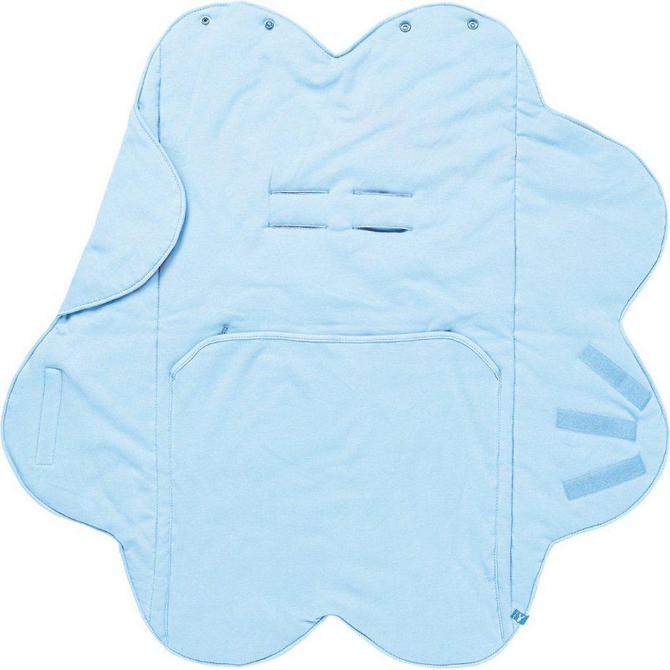 Wallaboo Wrapper Babydecke Fleur, blau in blau