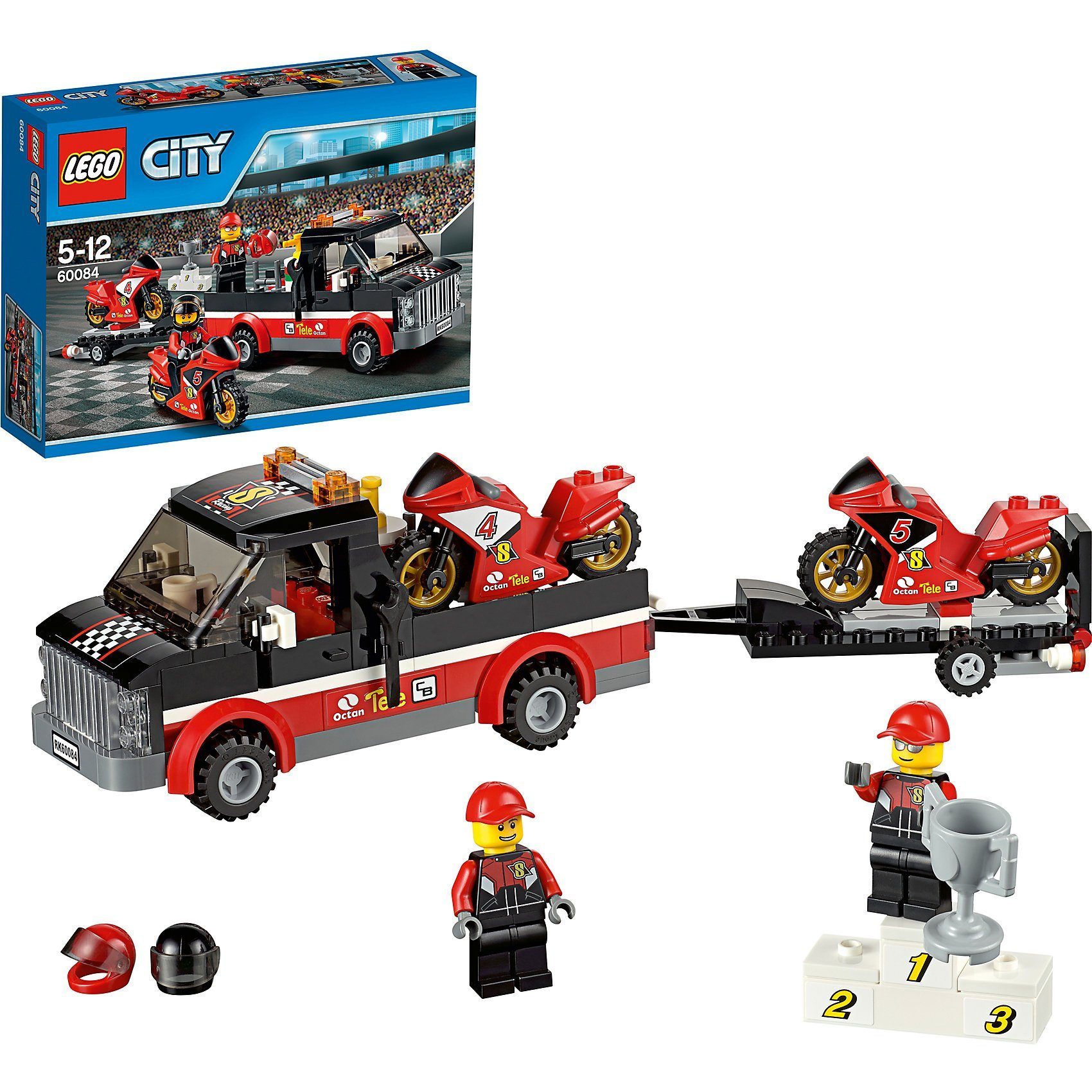 LEGO 60084 City: Rennmotorrad-Transporter