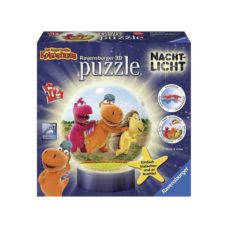 Ravensburger puzzleball® Nachtlicht Der kleine Drache Kokosnuss 72 Teile