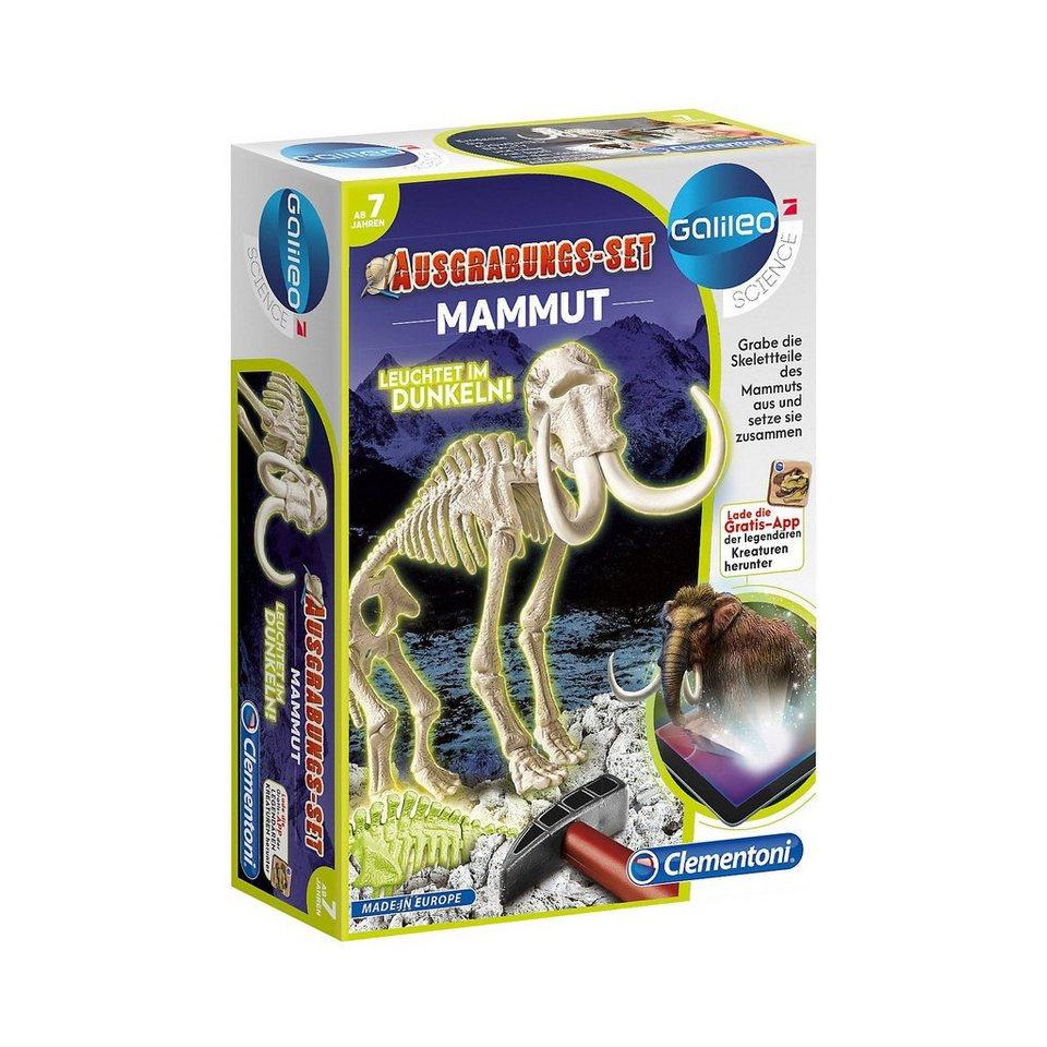 Clementoni Galileo - Ausgrabungs-Set Mammut