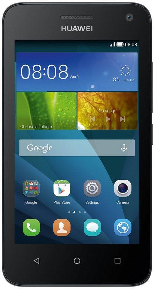 Huawei Y3 Smartphone, 11,4 cm (4 Zoll) Display, Android 4.4, 5,0 Megapixel in schwarz