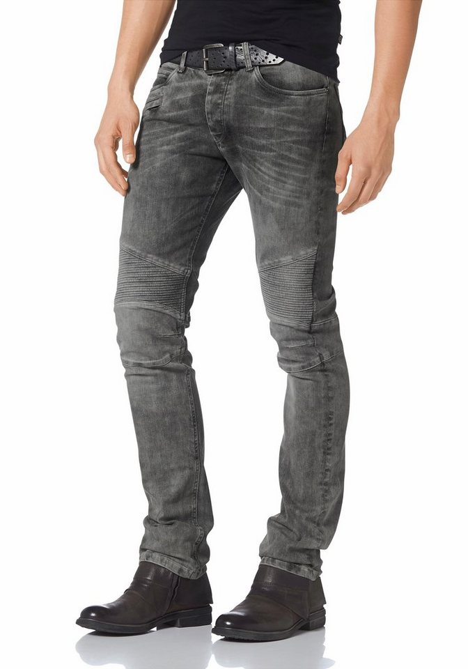 Bruno Banani Skinny-fit-Jeans »James (Stretch)« in grey-used