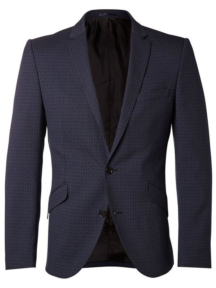 Selected Jacquard-Muster - Blazer in Navy Blue