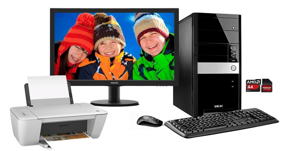 hyrican pc set amd a4 6300 8gb 1tb windows 8 1 monitor pc set00942 online kaufen otto. Black Bedroom Furniture Sets. Home Design Ideas