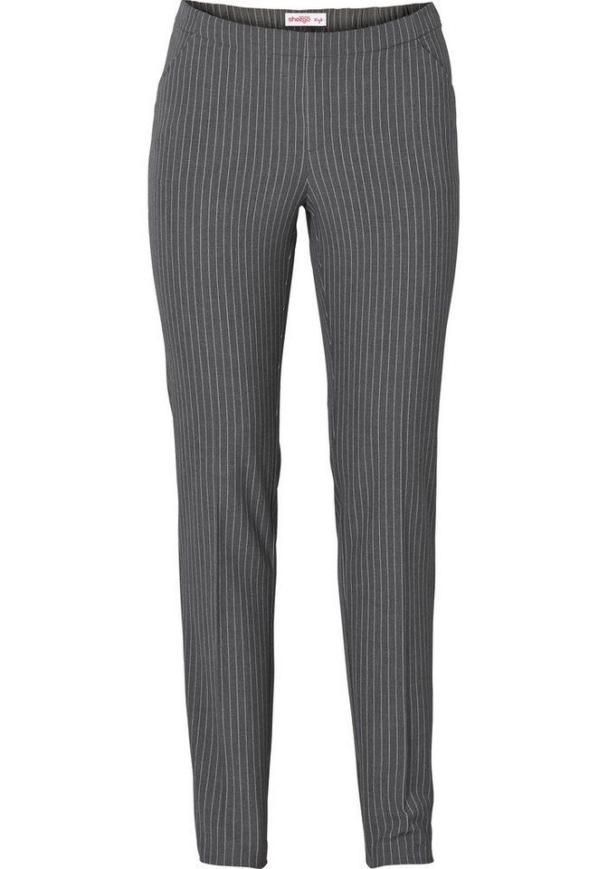 sheego Style Schlupfhose »Die Schmale« in grau gestreift
