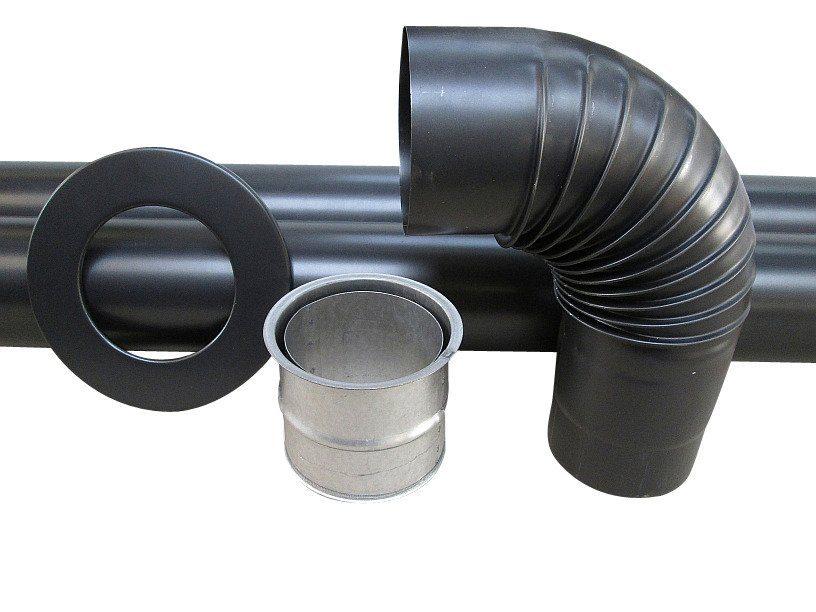 Rauchrohr »Set in Grau«, Ø 120 mm, Ofenrohr für Kaminöfen