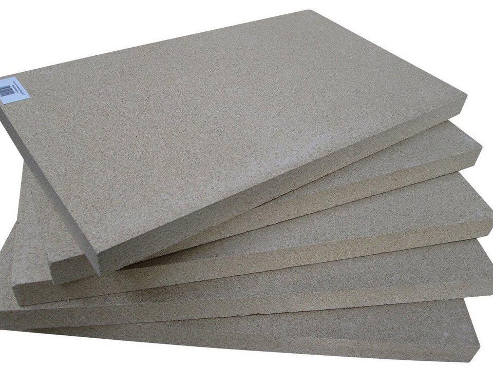 5er-Set Vermiculitplatten in gelb