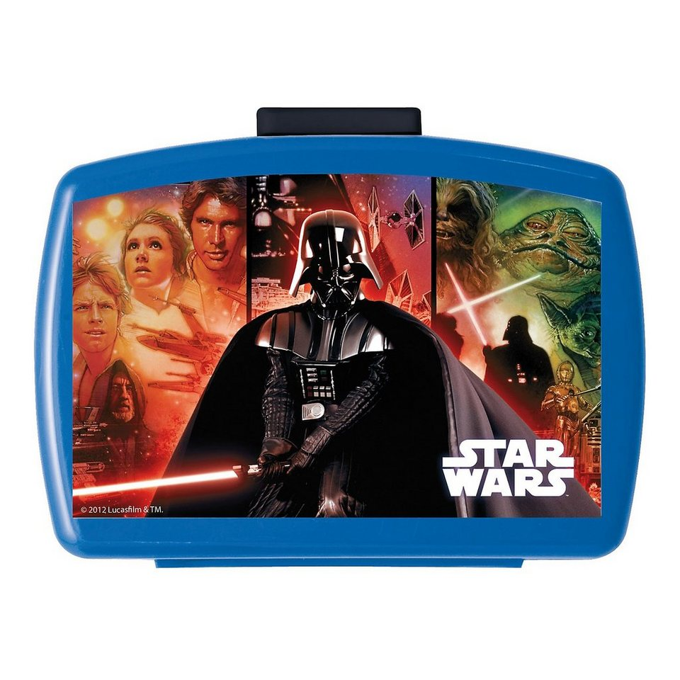 Premium Brotdose Star Wars in blau