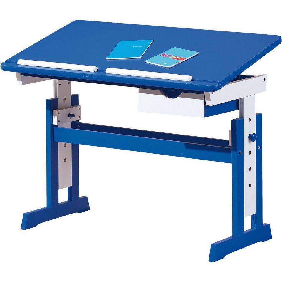 Inter Link ABC Schreibtisch TITJE, blau/weiß