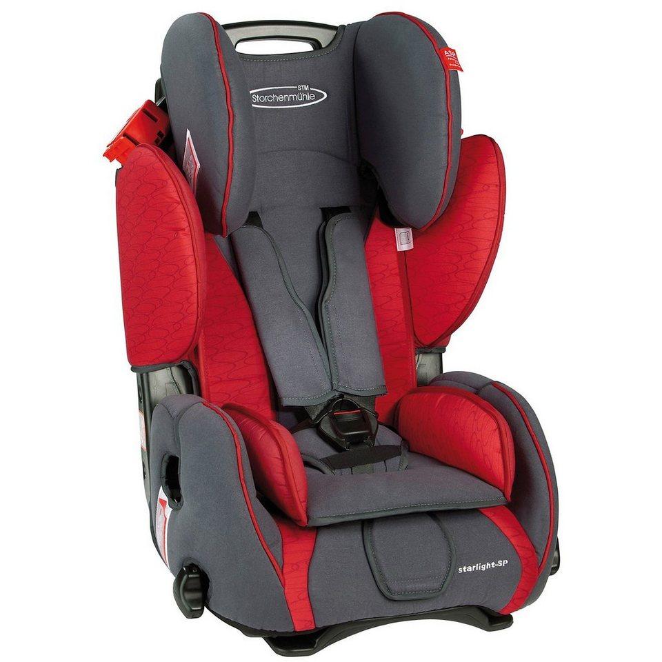 Storchenmühle Auto-Kindersitz Starlight SP, Chilli in rot/grau