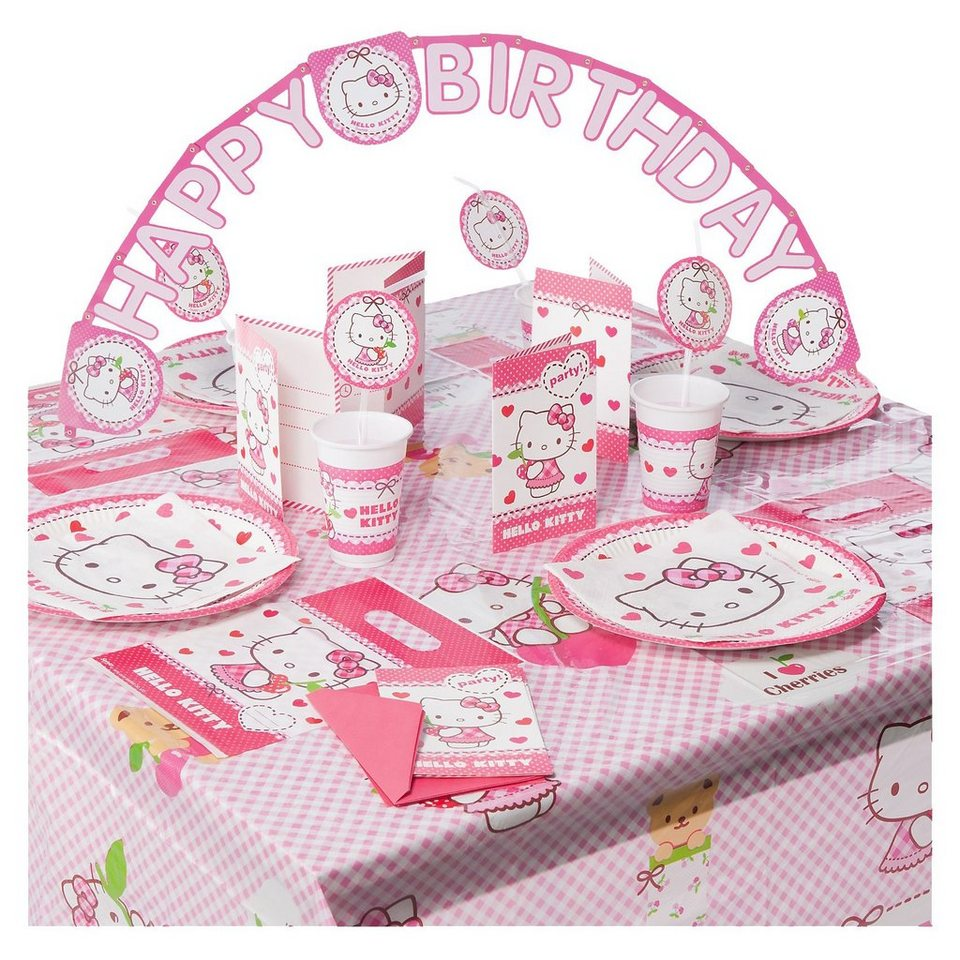 Procos Partyset Hello Kitty Hearts 56-tlg.