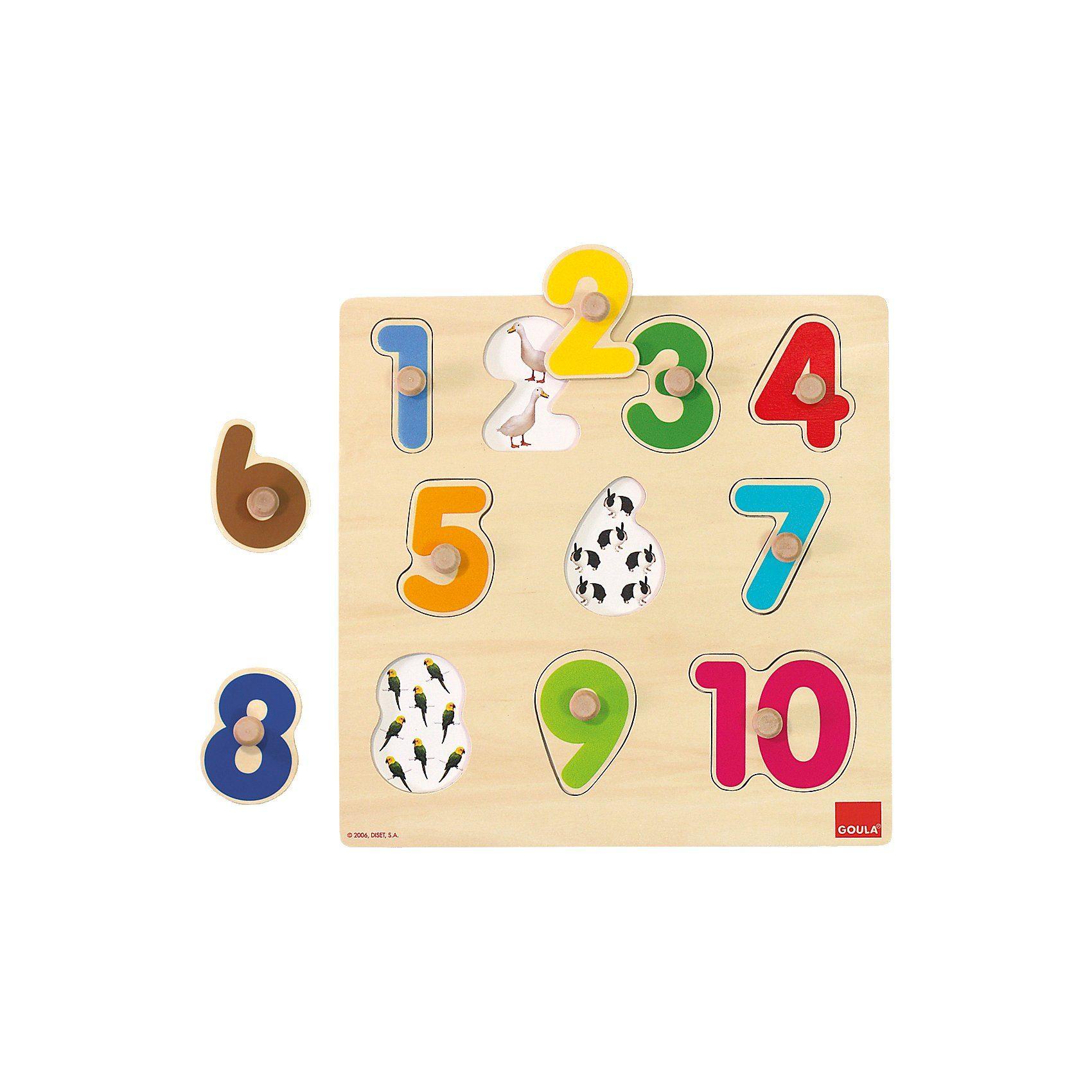 Goula Greifpuzzle Zahlen