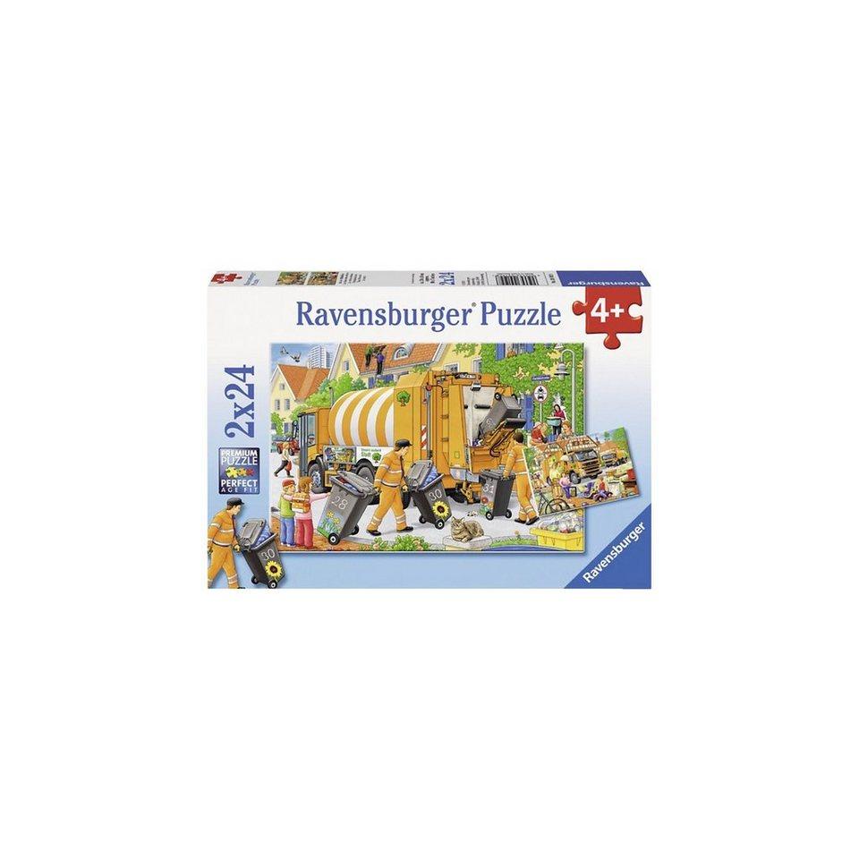 Ravensburger Bei der Müllabfuhr Puzzleset 2 x 24