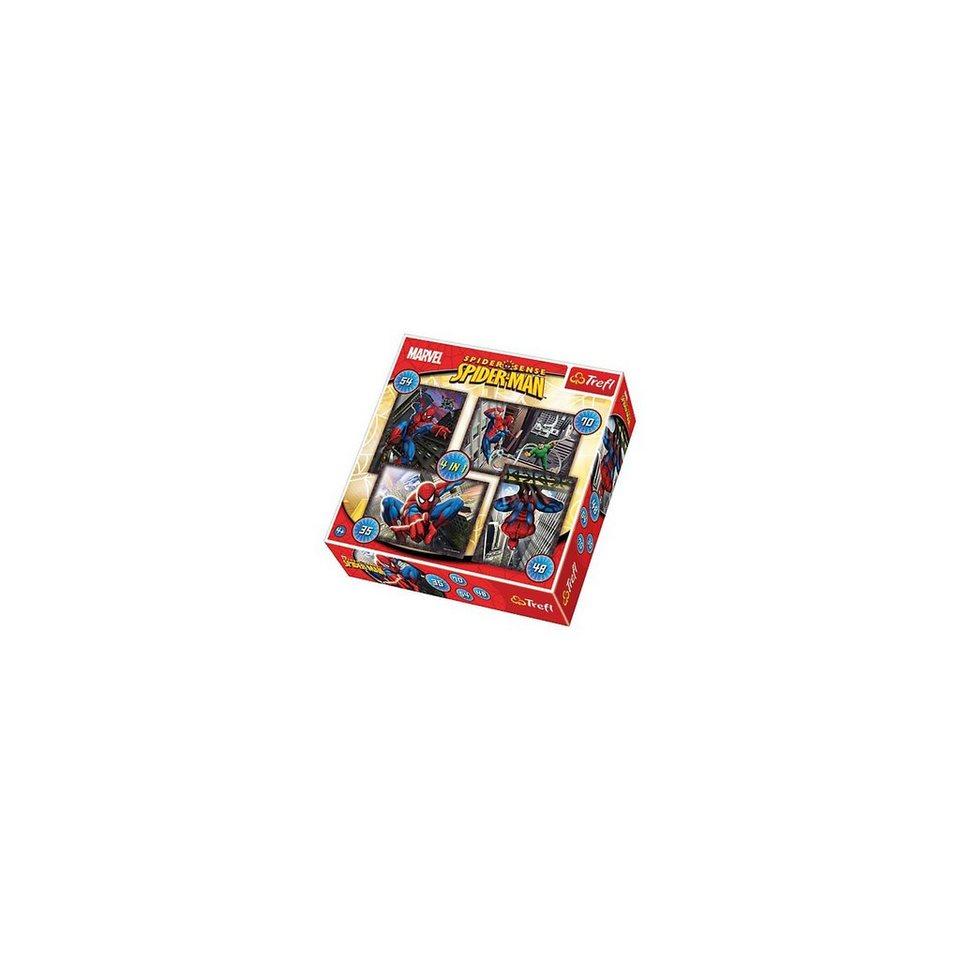 Trefl Puzzle-Set 4in1 - 35/48/54/70 Teile - Spiderman