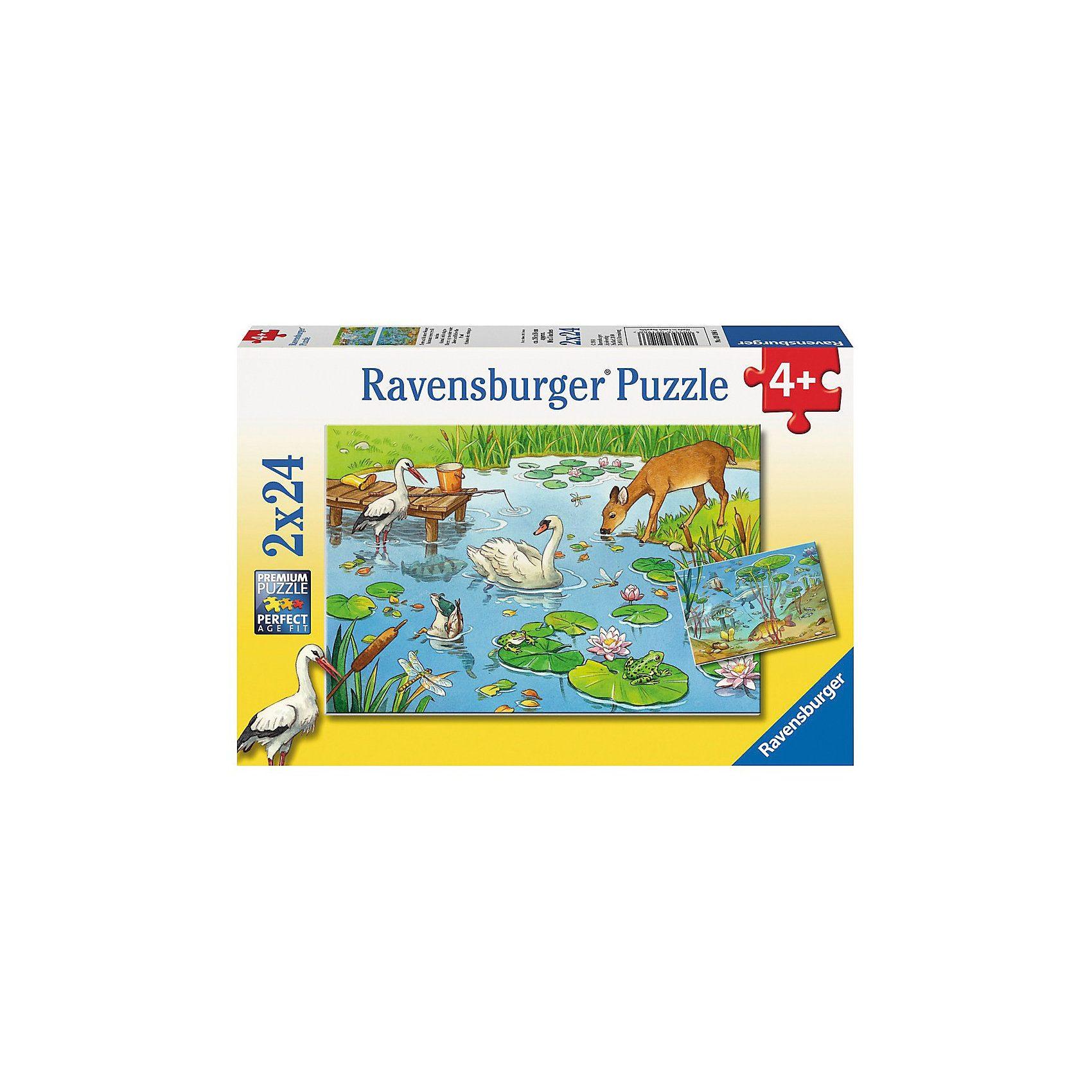 Ravensburger Puzzleset Tiere auf & unter Wasser 2 x 24 Teile