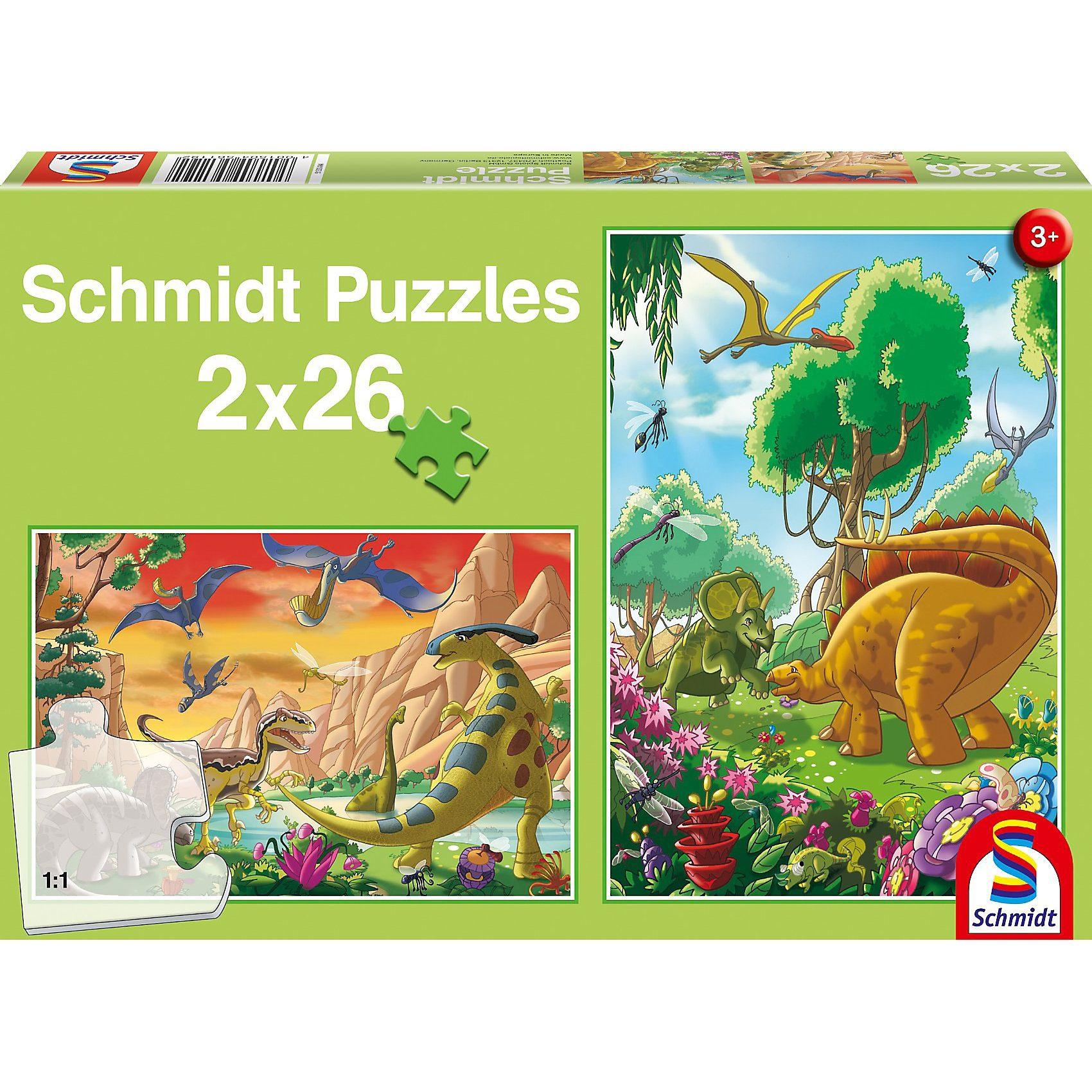 Schmidt Spiele Dinosaurierfreunde, 2 x 26 Teile