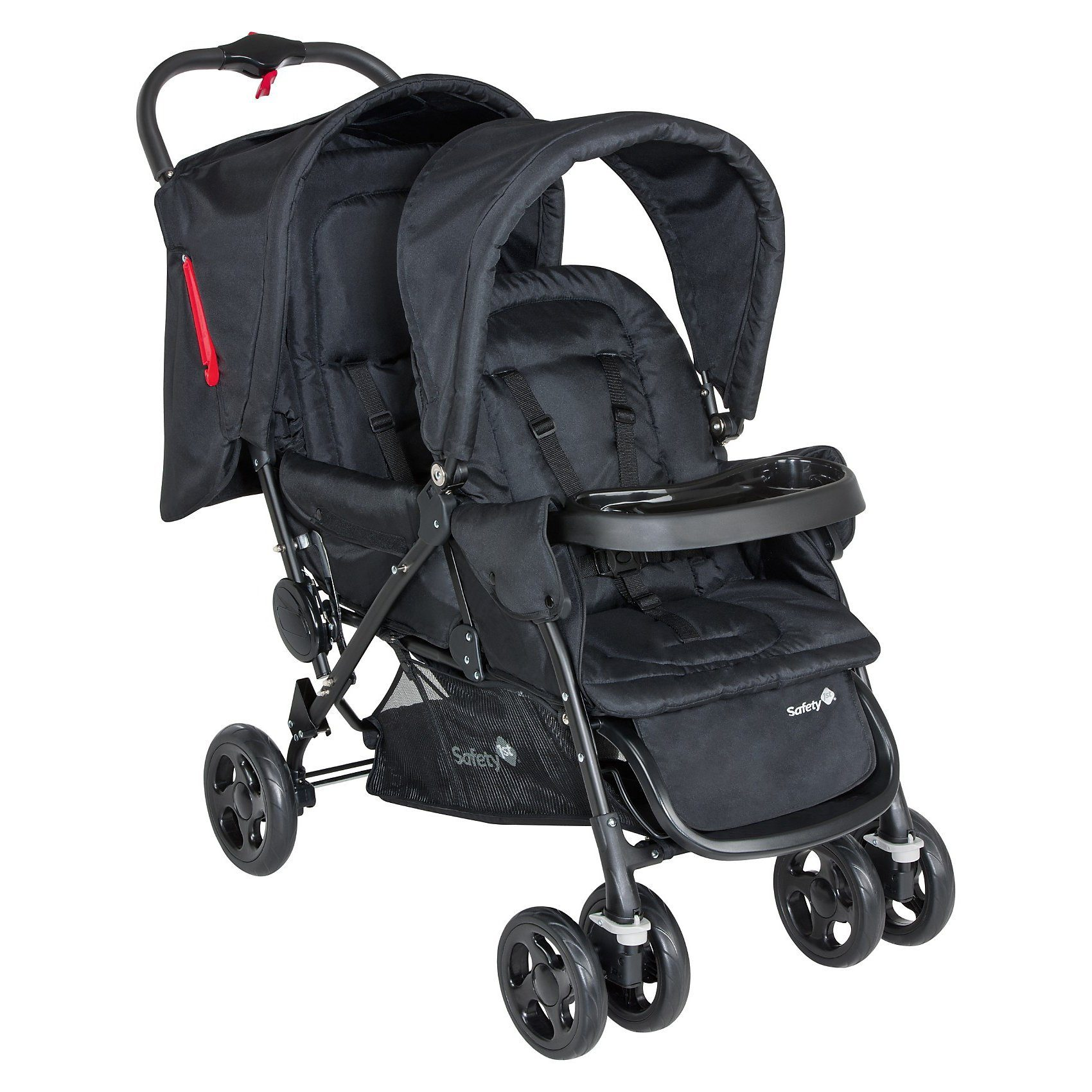 Safety 1st Geschwisterwagen Duodeal, Full Black, 2017