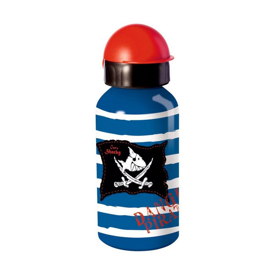 Spiegelburg Alu-Trinkflasche Capt'n Sharky (0,4 l) in blau