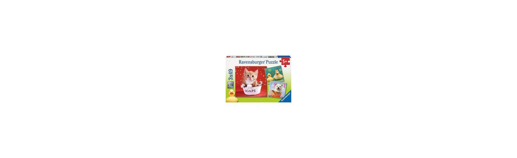 Ravensburger Puzzleset 3 x 49 Teile Lustige Tierwelt