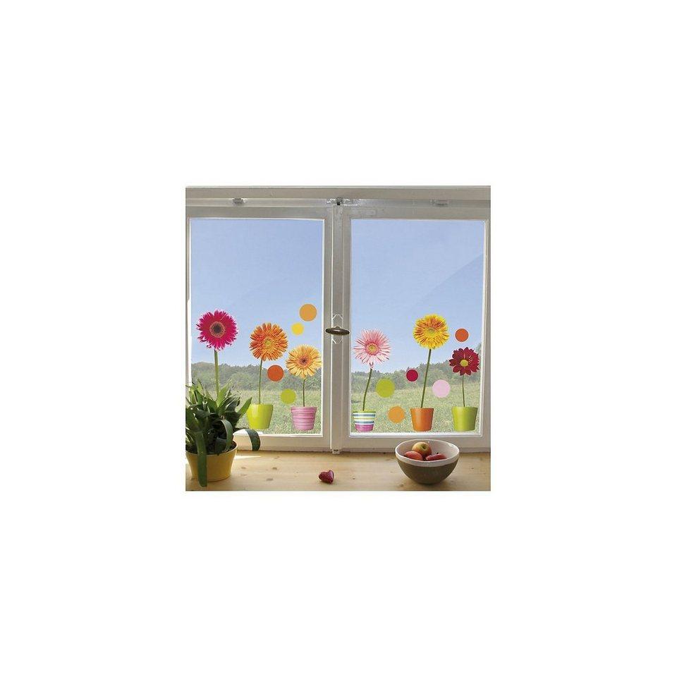 Fenster Sticker Gerberas, 20-tlg. in mehrfarbig
