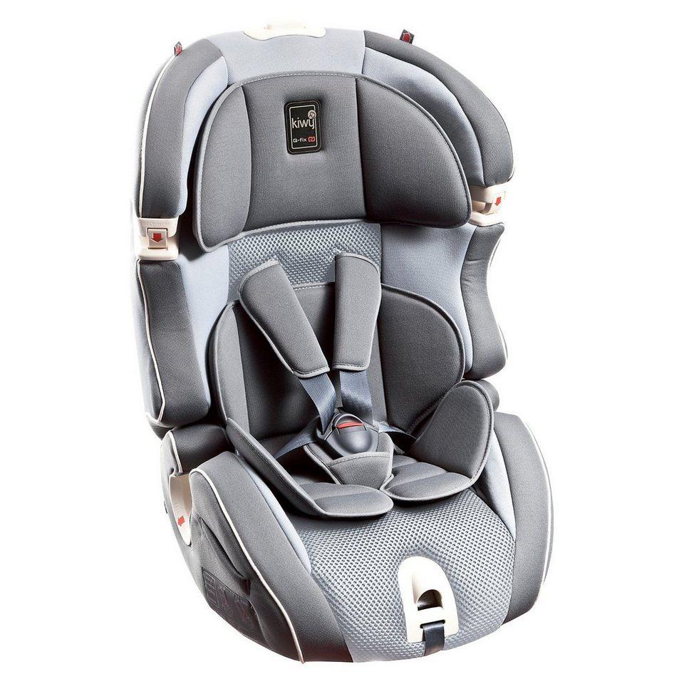 Kiwy Auto-Kindersitz SLF123 Q-Fix, Stone, 2016 in grau