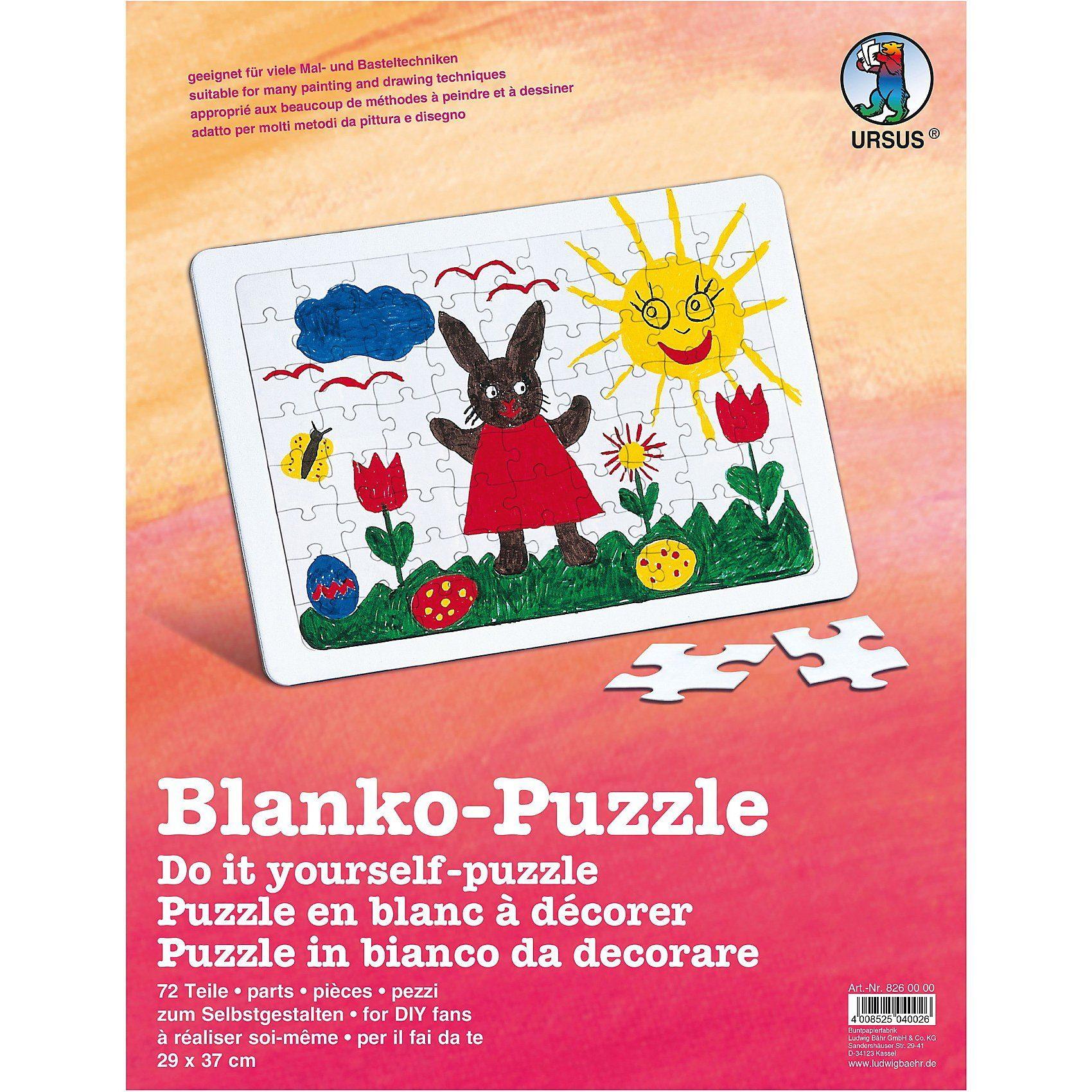 URSUS Blanko-Puzzle A3 zum Gestalten und Bemalen