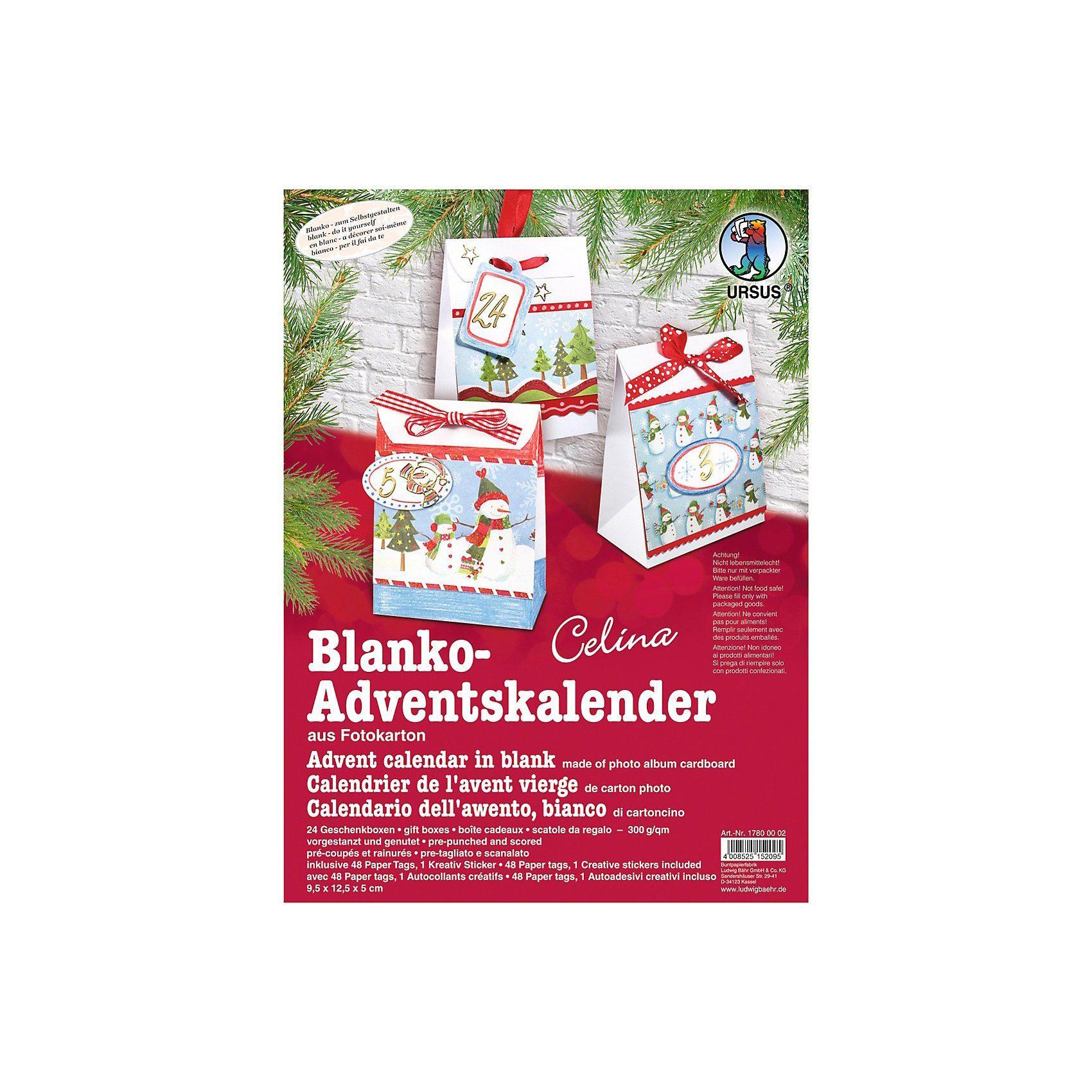 URSUS Blanko-Adventskalender Celine
