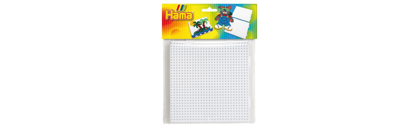 Hama Perlen HAMA 4458 midi Stiftplatten-Set 2 x Quadrat zusammensteckbar