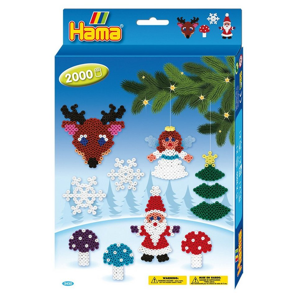 Hama Perlen HAMA 3430 midi-Geschenkset Weihnachten, ca. 2.000 Stück