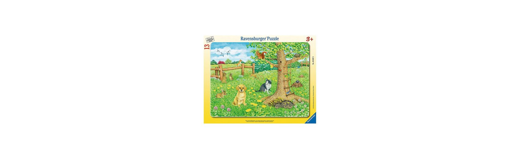 Ravensburger Rahmenpuzzle Tiere auf der Frühlingswiese 13 Teile