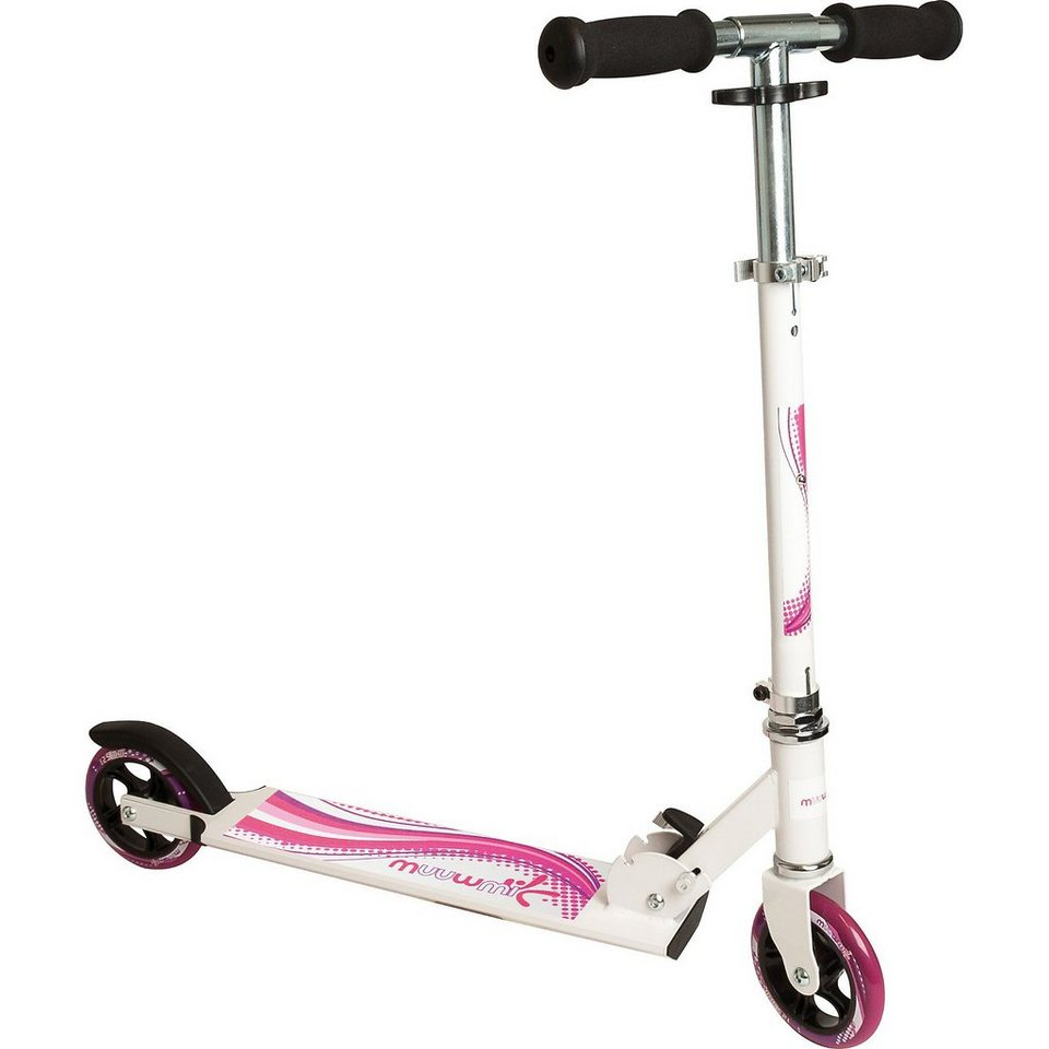 Muuwmi Scooter weiß/Pink 125 mm in rosa/weiß