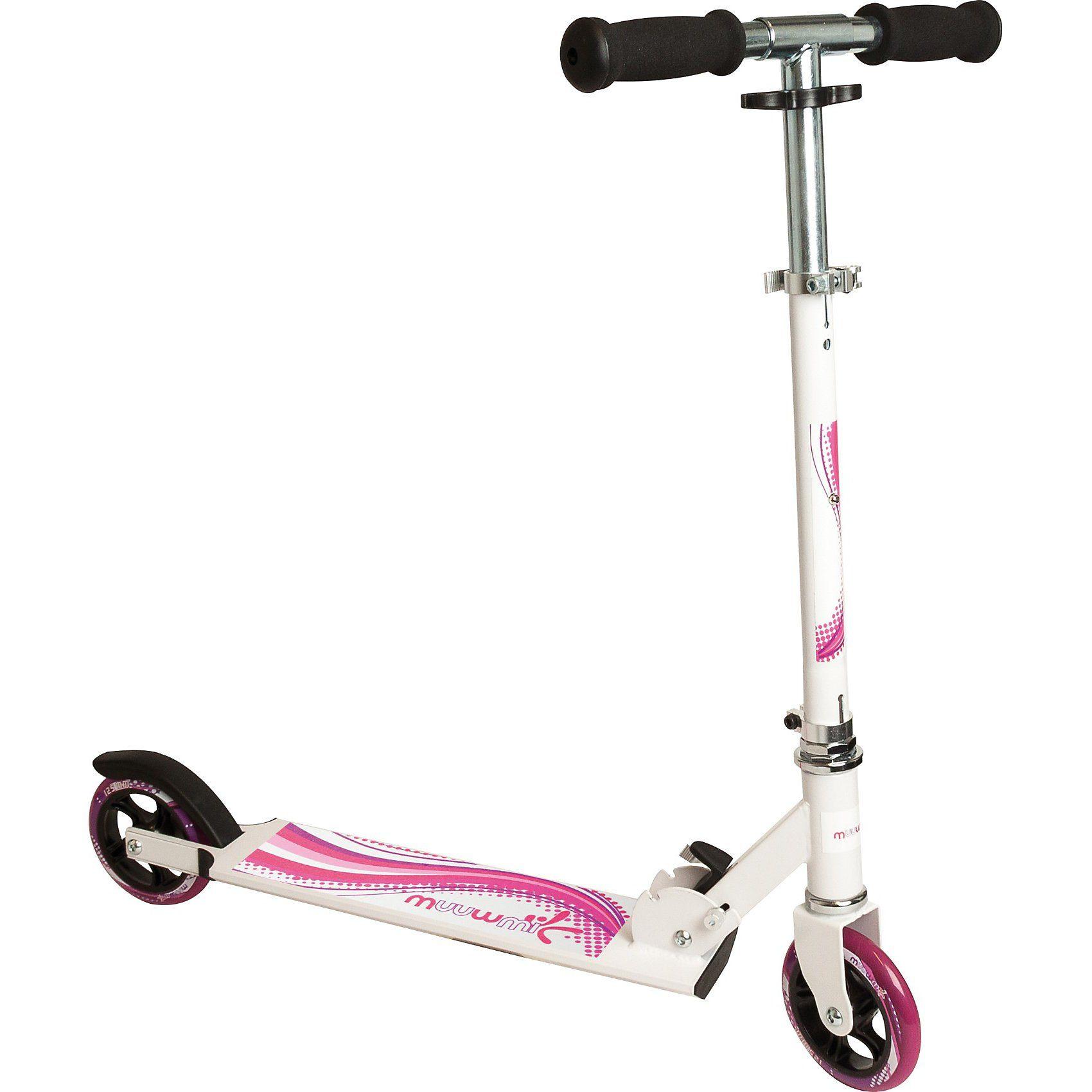 Muuwmi Scooter weiß/Pink 125 mm