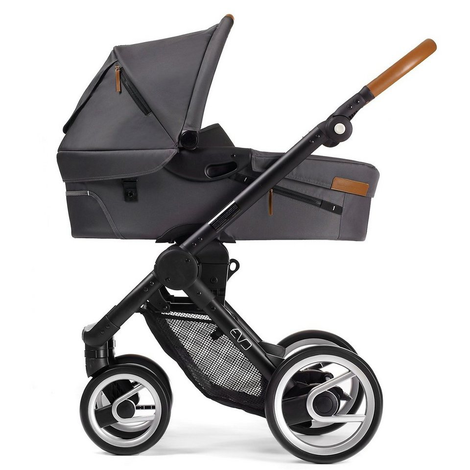 mutsy Kombi Kinderwagen Evo urban nomad dark grey, Gestell black, in dark grey